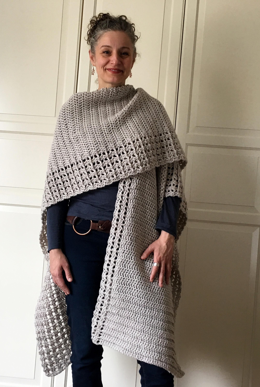 Crochet Ruana PATTERN Crochet Cape Pattern Crochet Top