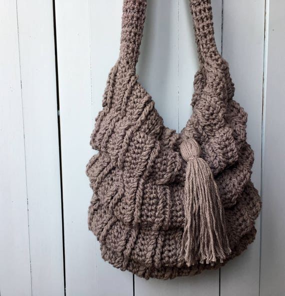 Crochet Boho Bag PATTERN Crochet Bag Pattern Slouchy Bag Etsy Beauteous Crochet Hobo Bag Pattern