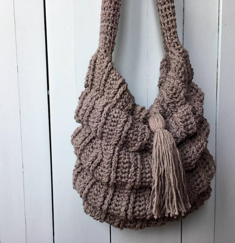 Crochet Boho Bag Pattern Crochet Bag Pattern Slouchy Bag Etsy