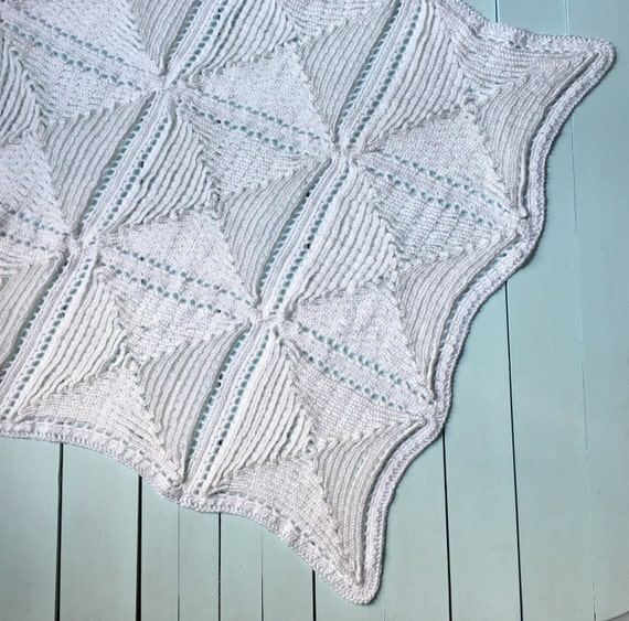 Traditional Christening Baby Blanket Crochet Pattern Old Etsy