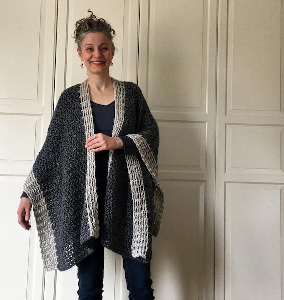 Crochet Ruana Pattern Crochet Wrap Pattern Boho Crochet
