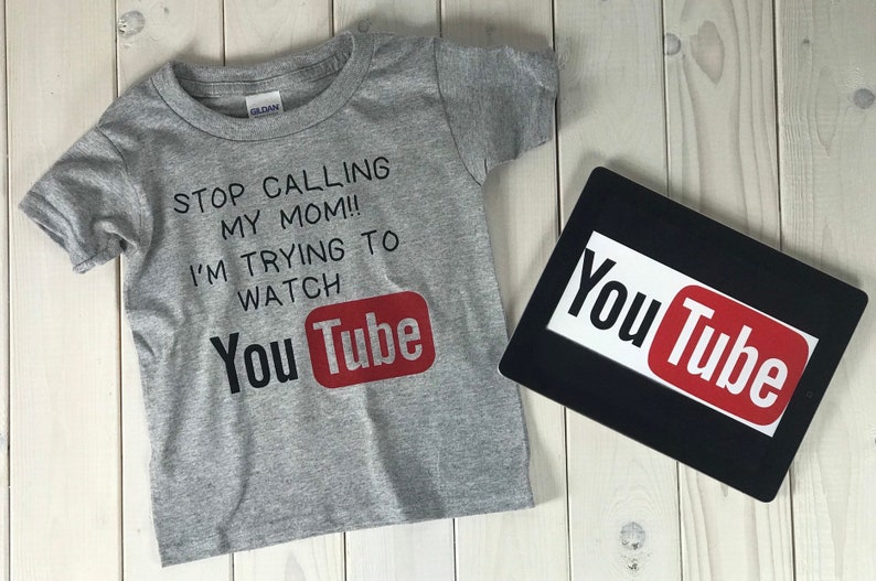 5ebf9b77f2 Kids You Tube Tshirt Stop Calling My Mom Shirt Kids Graphic   Etsy