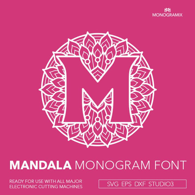 Download SVG Mandala Monogram Font A to Z Personal Svg Mandala ...