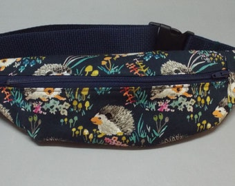 Colorful Doodle Dogs Fabric Bum Bag Belted Waist Bag Kids Fanny Pack