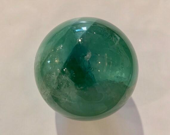 FLUORITE SPHERE// Healing Gemstone// Polished Sphere// Home Decor// Healing Tools// Rainbow Fluorite Sphere// Mental Clarity// Fluorite Orb