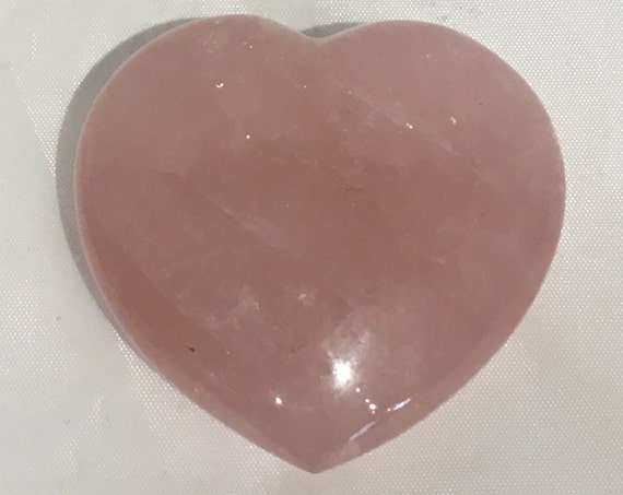 Beautiful Carved ROSE QUARTZ Heart Healing Gemstone// Crystal HEART// Carved Heart Stones// Healing Crystals// Love Crystals// Love Stone