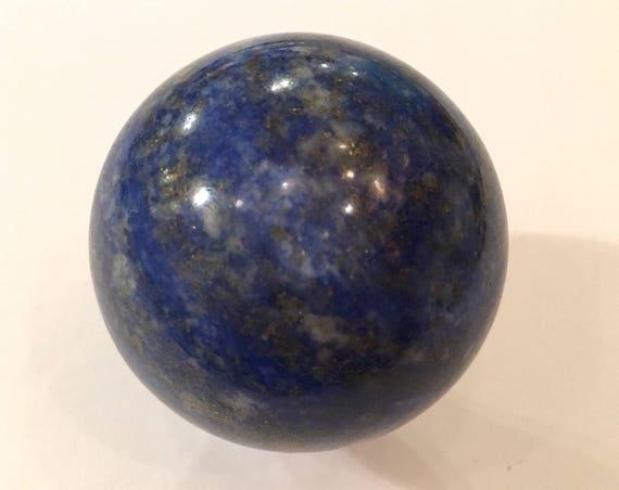 LAPIS LAZULI Sphere// Polished Lapis Lazuli SPHERE// Crystal Ball// Gemstone Sphere// Healing Gemstone// Home Decor// Healing Tools// Lapis