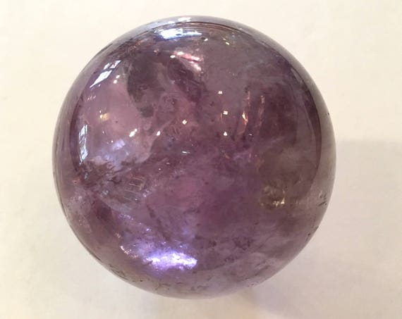 AMETHYST Sphere// Healing Gemstone// Polished SPHERE// Home Decor// Healing Tools// Purple Sphere// February Birthstone// Amethyst Orb