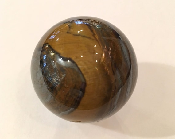 TIGER'S EYE Sphere// Crystal SPHERE// Healing Gemstone// Crystal Ball// Home Decor// Healing Tools// Polished Yellow Tiger's Eye Sphere