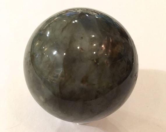 LABRADORITE Sphere// Crystal Sphere// Healing Gemstone// Crystal Ball// Home Decor// Healing Tools// From Madagascar