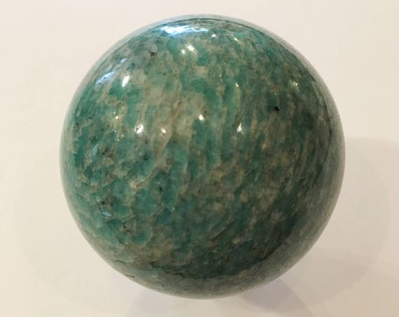 AMAZONITE Sphere// Crystal Sphere// Healing Gemstone// Crystal Ball// Home Decor// Healing Tools// Amazonite// From Brazil