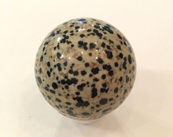 DALMATIAN JASPER Sphere// Jasper Sphere// Crystal Sphere// Healing Gemstone// Crystal Ball// Home Decor// Healing Tools// Dalmatian Jasper