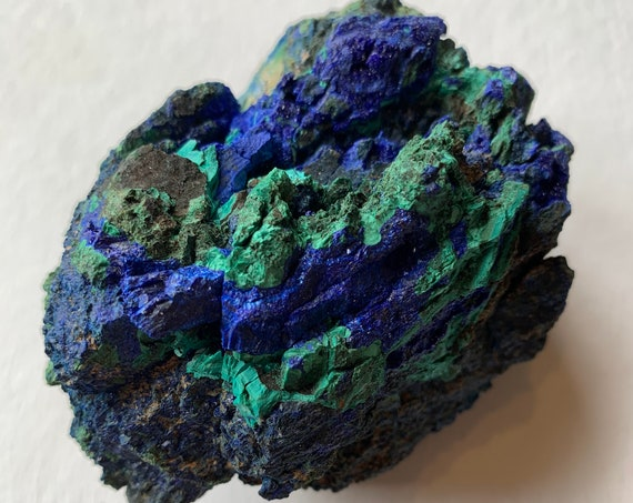 AZURITE + MALACHITE Raw Healing Gemstone// Raw Crystals/ Intuition, Communication, Transformation// Throat + Root Chakra/ from The Congo