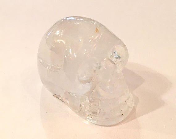 Quartz Skull// Carved Skull// Healing Gemstones// Home Decor// Healing Tools// All Chakras// Clear Quartz// Crystal SKULL// from Brazil