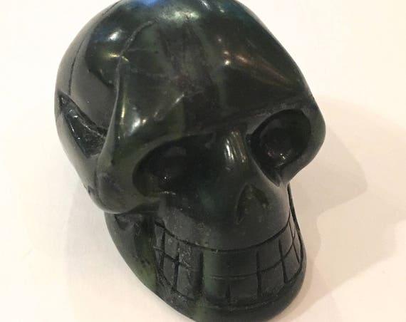 Canadian JADE Skull// Carved Skull// Healing Gemstones// Home Decor// Healing Tools// Crystal Skull// SKULL// CANADIAN Jade// From Canada