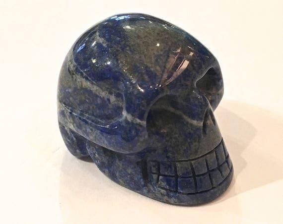 LAPIS LAZULI Skull// Carved Skull// Healing Gemstones// Home Decor// Healing Tools// Crystal Skull// Lapis Lazuli/ Crystal SKULL