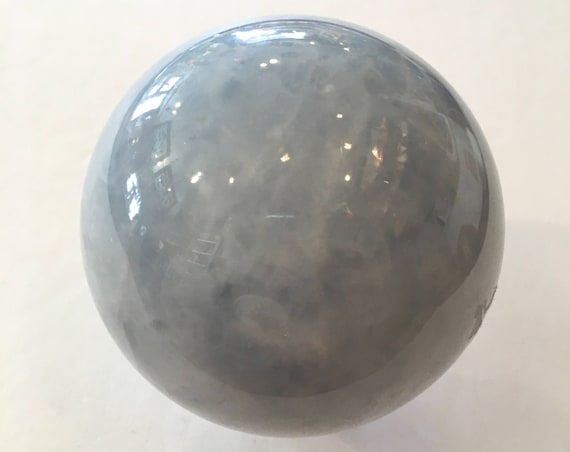 BLUE CALCITE Sphere// Calcite Sphere// Crystal Sphere// Healing Gemstone// Crystal Ball// Home Decor// Healing Tools// Blue Calcite Orb