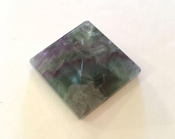 FLUORITE Pyramid// Rainbow Fluorite// Crystal PYRAMID// Stone Carved Pyramid// Healing Crystals// Healing Tools// Home Decor// All Chakras