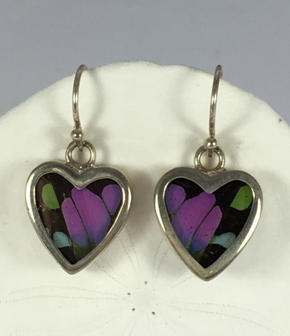 PURPLE SWALLOWTAIL Butterfly Wing Earrings// Butterfly Wing Jewelry// AUTHENTIC Butterfly Wings// Eco Friendly Jewelry// Statement Jewelry