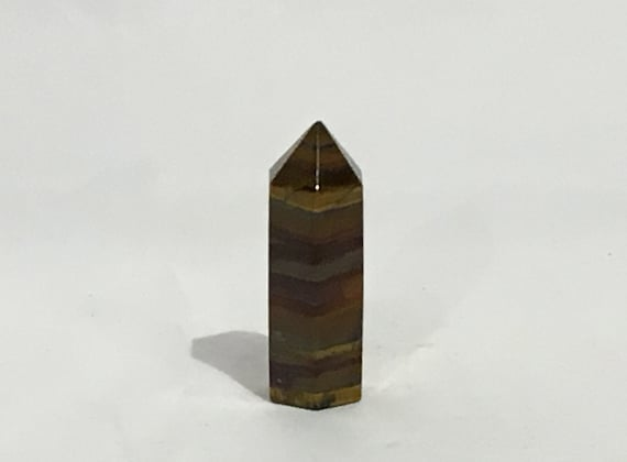 TIGER'S EYE Obelisk// Tiger's Eye// Crystal OBELISK// Cut Obelisk// Stone Carved Point// Healing Crystals// Healing Tools// Home Decor