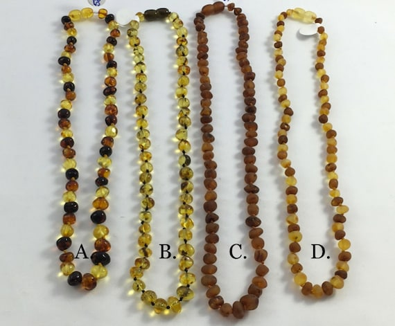 Multi-Colored ADULT AMBER NECKLACES// Adult Necklaces// Mommy + Baby Necklace// Amber Jewelry// Authentic Amber Jewelry// Raw and Polished
