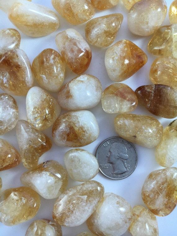 Beautiful Tumbled CITRINE Healing Gemstone// Tumbled Stones// Healing Crystals// Prosperity Stone// Abundance// Sacral + Solar Plexus Chakra