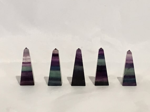FLUORITE OBELISK// RAINBOW Fluorite// Healing Gemstones// Home Decor// Healing Tools// Carved Obelisks// Crystal Points// Healing Crystals