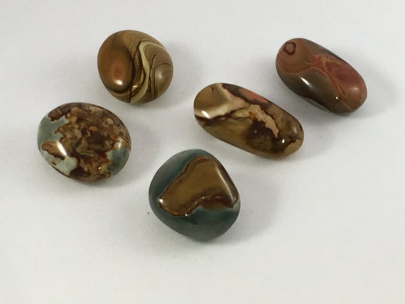 Polished POLYCHROME JASPER// Tumbled Jasper// Healing Gemstone// Healing Tools// Home Decor// All Chakras//