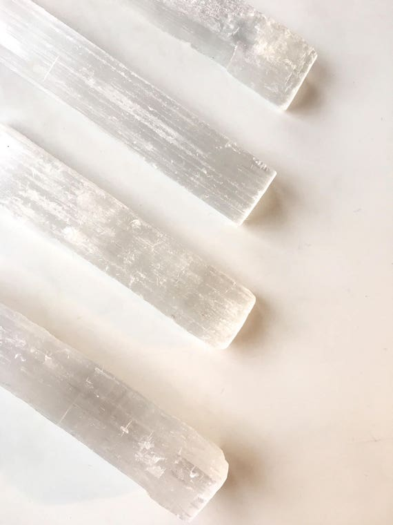 Beautiful SELENITE Healing Stones// White Selenite//Raw Selenite/ Selenite WANDS/ Healing Gemstone/ Home Decor/ Healing Tools/ Home Clearing