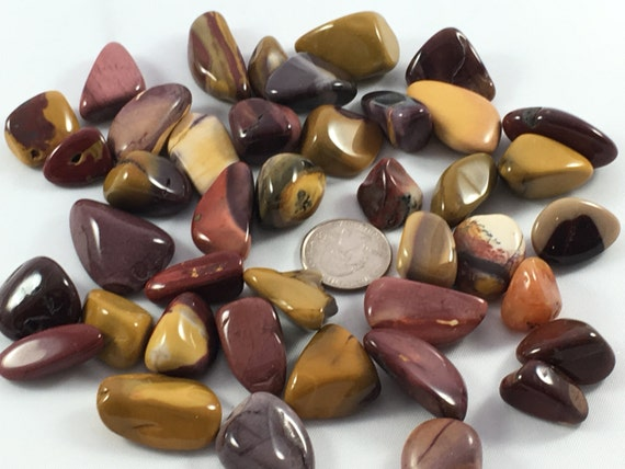 Beautiful Tumbled MOOKITE JASPER Healing Gemstone// Tumbled Jasper// Tumbled Stones// Polished Jasper// Healing Crystals// Healing Tools