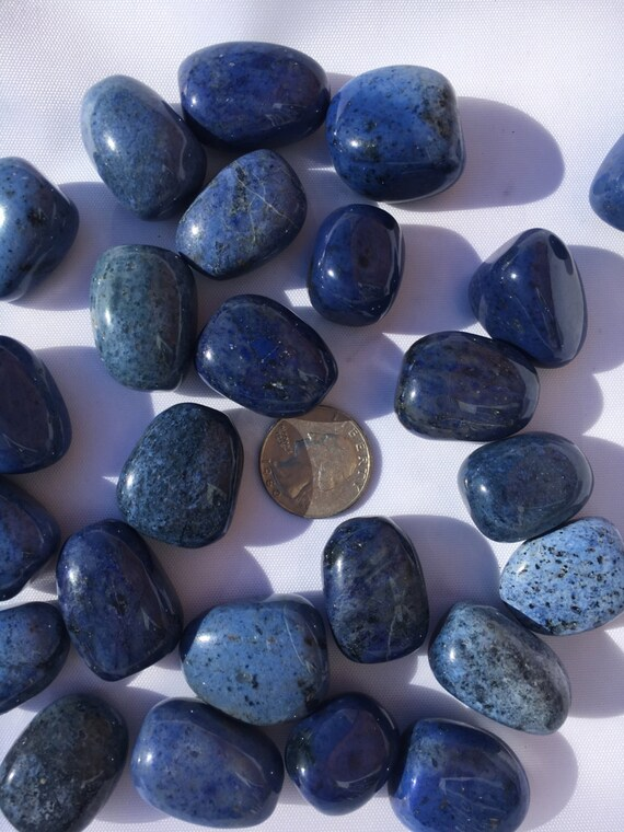 Beautiful Tumbled DUMORTIERITE Healing Gemstone// Tumbled Stones// Healing Crystals// Healing Tools// Throat Chakra// Blue Healing Crystals