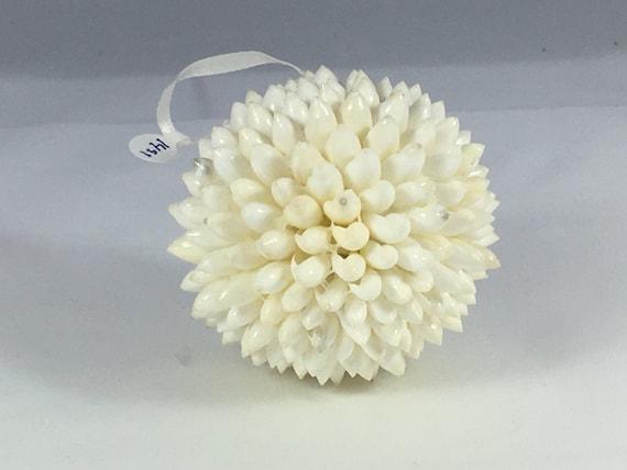 White Shell Ball Christmas Tree Ornament// Tree Ornament// Mini-White Sea Shells// Sea Shells// Authentic Shells// Home Decor//
