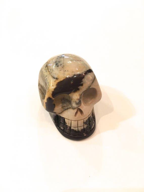 NGUNI JASPER Skull// Carved Skull// Healing Gemstones// Home Decor/ Healing Tools// Crystal Skull// Jasper/ ROOT Chakra Stone// Skull