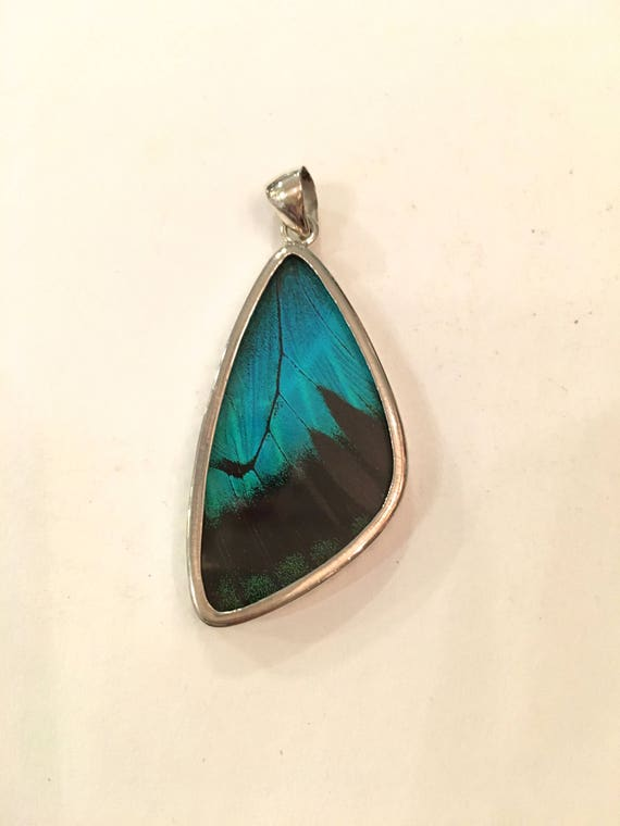 ULYSSES Butterfly Wing Pendant// Butterfly Wing Jewelry// AUTHENTIC Butterfly Wings// Eco Friendly Jewelry// Statement Jewelry