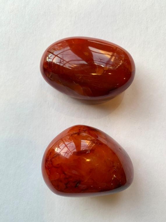 CARNELIAN Pebbles/ Carnelian// Gemstone Pebbles/ Healing Gemstones// Paperweight/ Home Decor// Healing Tools/ Large Tumbled Stones// Sacral