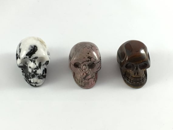 Assorted Healing Crystal Skulls// Healing Gemstones// Home Decor// Healing Tools// Carved Skulls// Crystal Skull// Healing Crystals