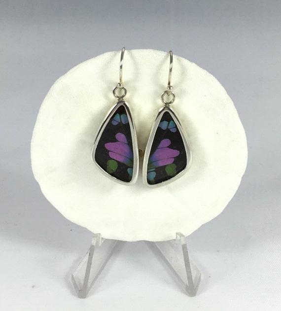 PURPLE SWALLOWTAIL Butterfly Wing Earrings// Butterfly Wing Jewelry// AUTHENTIC Butterfly Wings// Eco Friendly Jewelry// Statement Jewelry