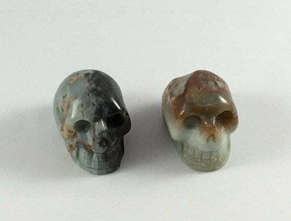 AMAZONITE Skulls// Carved Skull// Healing Gemstones// Home Decor// Healing Tools// Crystal Skull// from Brazil