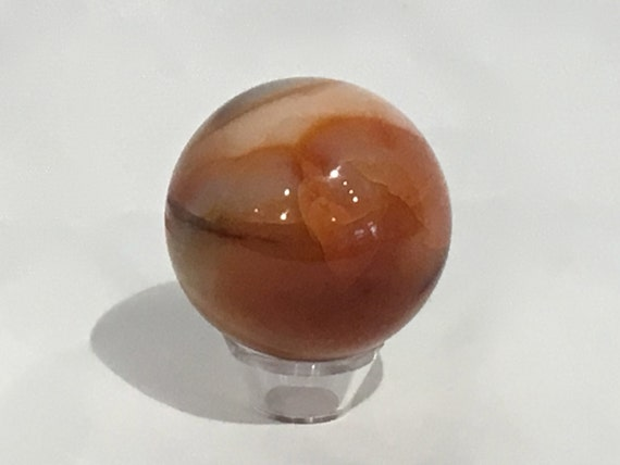 CARNELIAN Sphere/ ORANGE Carnelian Sphere// Crystal Sphere/ Healing Gemstone// Crystal Ball/ Home Decor// Healing Tools/ Sacral Chakra Stone