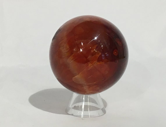 CARNELIAN Sphere/ ORANGE Carnelian Sphere// Crystal Sphere/ Healing Gemstone// Crystal Ball/ Home Decor// Healing Tools/ Sacral Chakra Stone