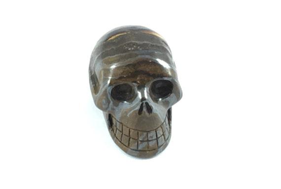 TIGER IRON Skulls// Carved Skull// Healing Gemstones// Home Decor// Healing Tools// Crystal Skull//