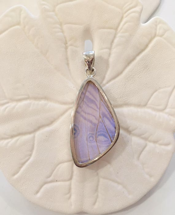 BLUE MORPHO Butterfly Wing Pendant// Butterfly Wing Jewelry// AUTHENTIC Butterfly Wings// Eco Friendly Jewelry// Statement Jewelry