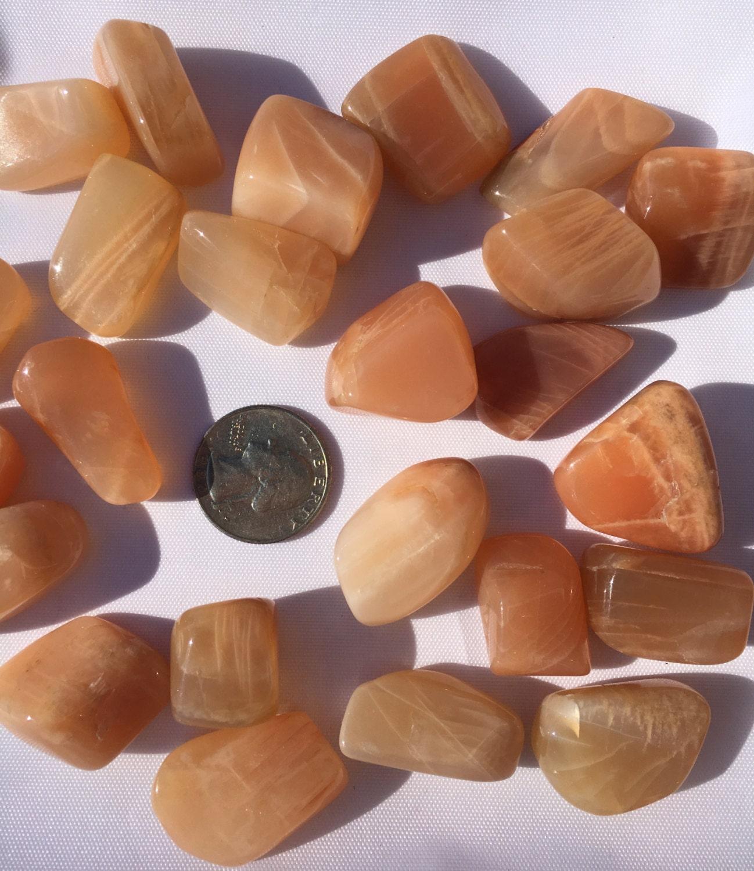 Beautiful Tumbled MOONSTONE Healing Gemstone// Peach | Etsy