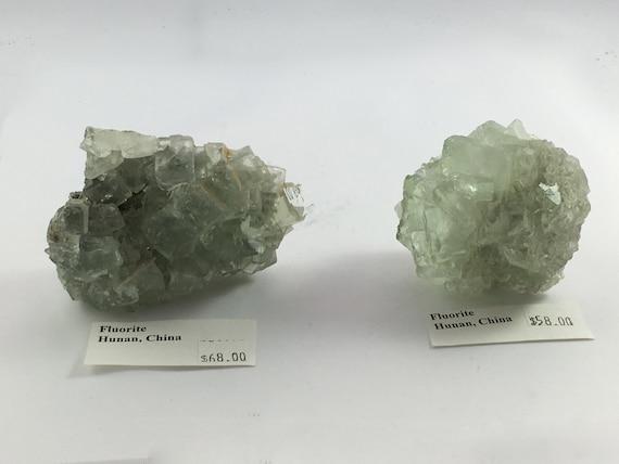 FLUORITE Healing Gemstone// Raw Crystals// Green Fluorite// Home Decor// Healing Tools// Statement Piece// From China