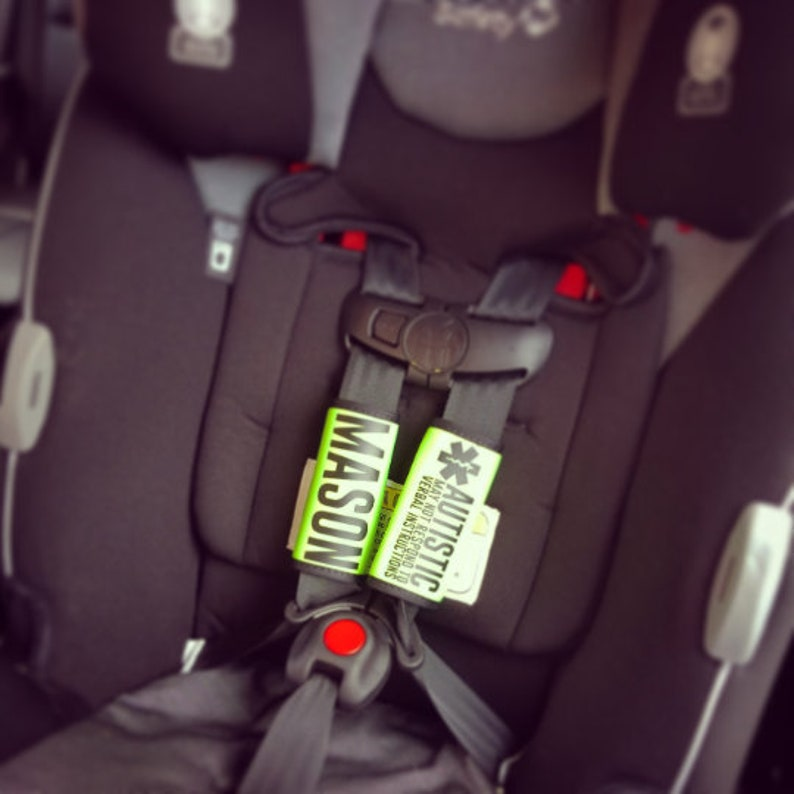 Carseat Straps Hook and loop closure Cover Medical Alert for image 0