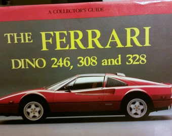 Ferrari Dino hardcover book, Vintage  hardcover, vintage first edition, 1988, ISBN: 0947981233, Dino Ferrari Collector's Guide, FINE , First