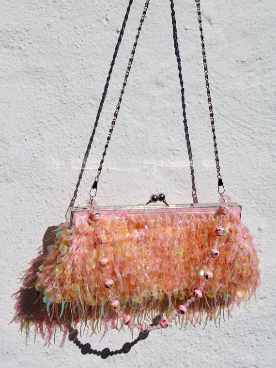 Pink Sequin Crossbody