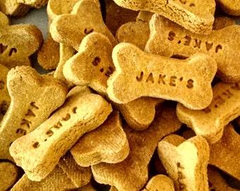 Peanut Butter Pumpkin Gourmet Dog Treats, Dog Cookies, Gluten Free, Dog Gift