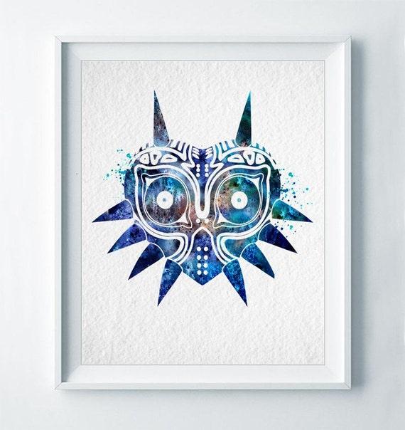Leyenda de la máscara de Majora de arte de Zelda imprimir   Etsy
