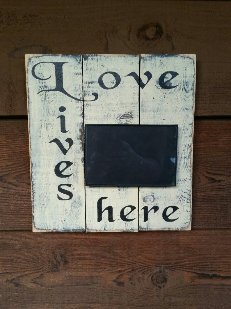 Home Decor Pallet Wood Photo Frame Handmade Home Decore Reclaimed Photo & Picture Frames